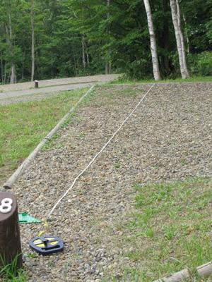 タンジェントハイトゲージ ターゲットから測定場所までをメジャーで測る